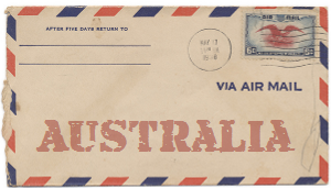 Recent missionary letter from Australia
