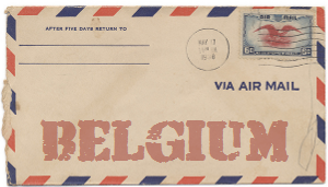 Recent missionary letter from Belgium
