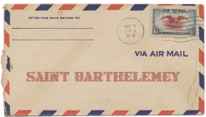 Recent missionary letter from Saint Barthelemey