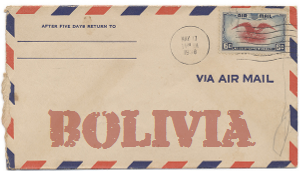 Recent missionary letter from Bolivia
