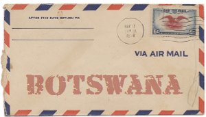 Recent missionary letter from Botswana
