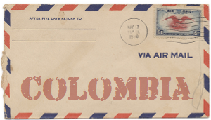 Recent missionary letter from Colombia
