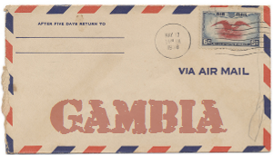 Recent missionary letter from the Gambia