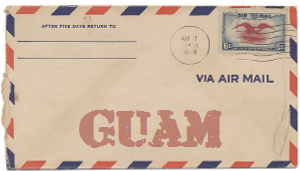 Recent missionary letter from Guam