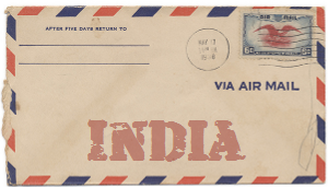 Recent missionary letter from India