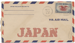 Recent missionary letter from Japan