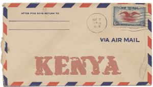 Recent missionary letter from Kenya