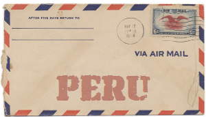Recent missionary letter from Peru