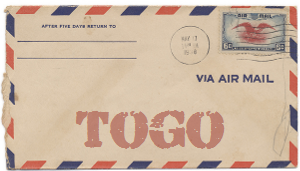 Recent missionary letter from Togo