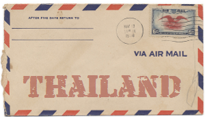 Recent missionary letter from Thailand