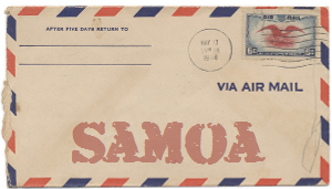 Recent missionary letter from Samoa