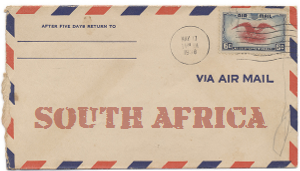 Recent missionary letter from South Africa