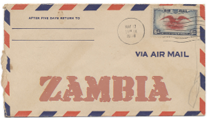 Recent missionary letter from Zambia